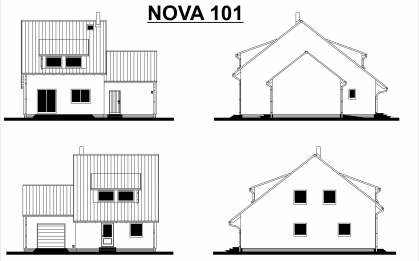 Zajímavá úprava domu Nova 101